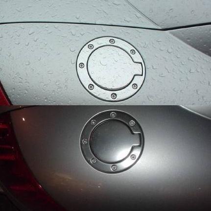 Audi TT fuel-filler caps (flat metal centres, riveted outer rings)