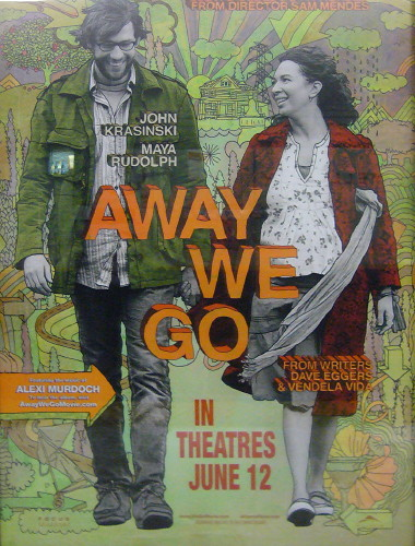 Hand-drawn poster for 'Away We Go'