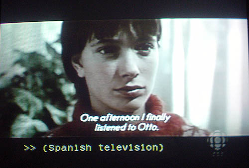 Subtitle: One afternoon I finally listened to Otto. Caption: >> (Spanish television)