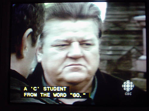 """Caption: A 'C' STUDENT FROM THE WORD """"GO"""""""