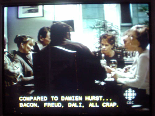 Caption: COMPARED TO DAMIEN HURST... BACON, FREUD, ALI, ALL CRAP