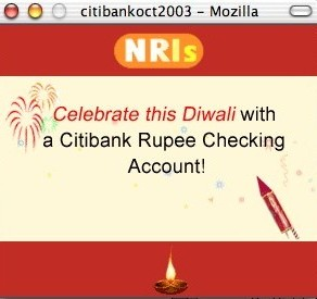 'Celebrate this Diwali with a Citibank Rupee Checking Account!