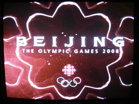 CBC Beijing Olympics logo screen