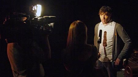 TV crew interviews Rich Terfry