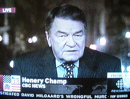 Chyron reads Henery Champ CBC NEWS