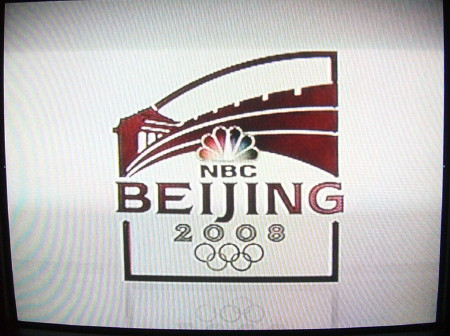 NBC Beijing Olympics logo screen