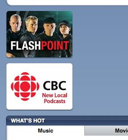 'Flashpoint' ad atop ad for CBC: 'New local podcasts'