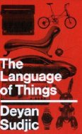 Red cover reading The Language of Things Deyan Sudjic in white Helvetica