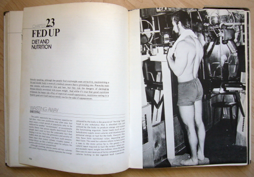 Double-page spread is headlined FED UP: DIET AND NUTRITION and shows a well-built man in shorts and a towel weighing himself at a gym