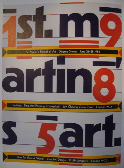 Typographic poster for Central St. Martins