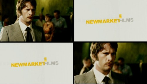 Trailer shows Tom Jane as Andre Stander in two of four quadrants and Newmarket Films logotype, in Arial, in the other two