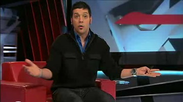 Strombo in black double-breasted zip-up sweater