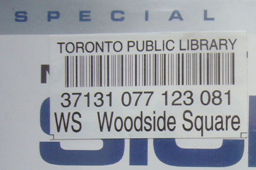 Barcode reads WS Woodside Square