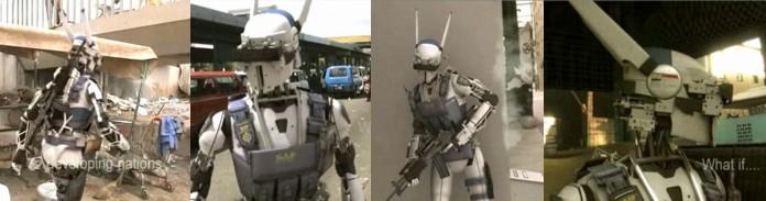 Robot patrols Soweto