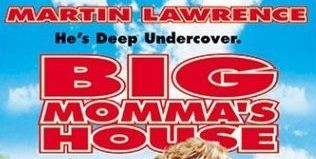 "'""Big Momma's House' title in extended and scrunched red Flyer outline type"