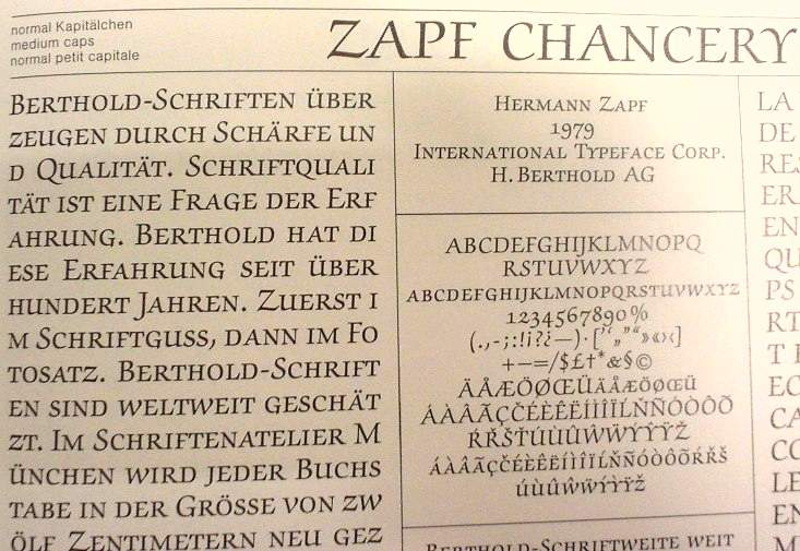 Zapf Chancery Medium caps ultra-closeup