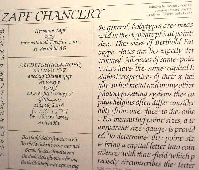 Zapf Chancery Medium Swash ultra-closeup