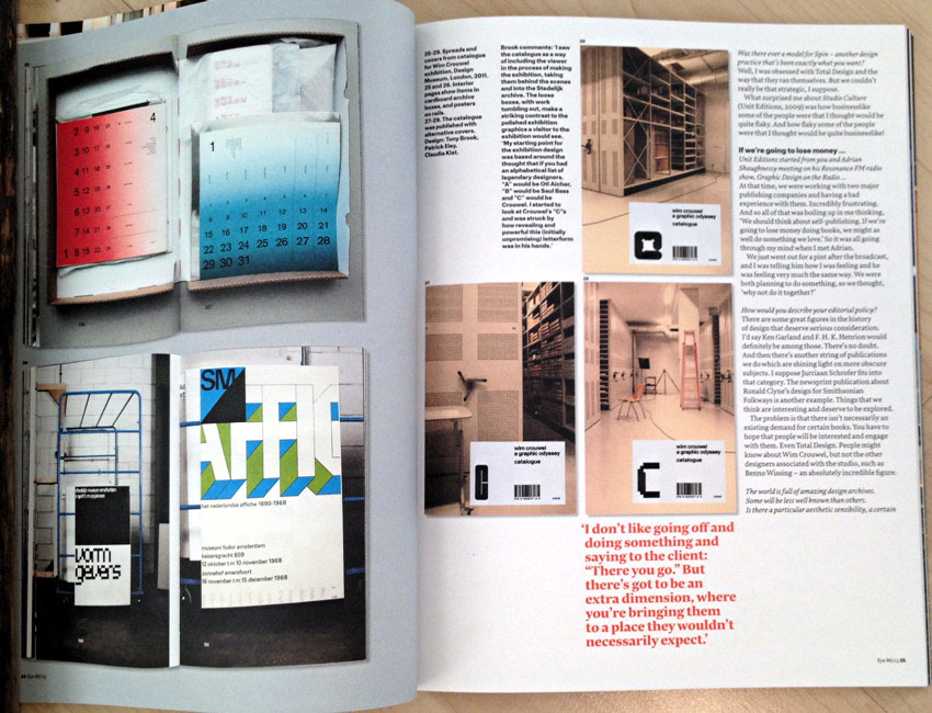 Thumbnail images on two-page spread