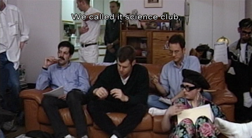 Teen Garance with various guys in a living room: We called it science club