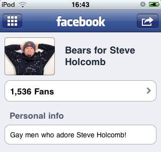 Screenshot: Bears for Steve Holcomb