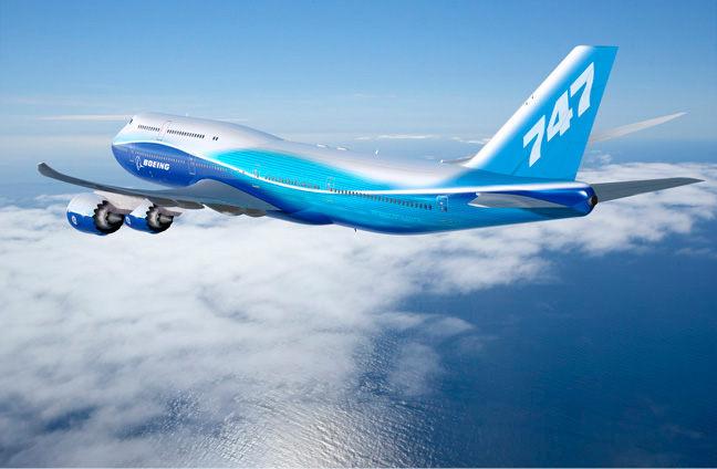 Illustration: Blue 747-8I aloft