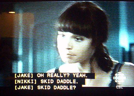 Scrollup captioning: [NIKKI] SKID DADDLE.
