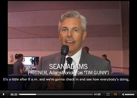 Screenshot: Sean Adams, Partner, AdamsMorioka (as 'Tim Gunn')