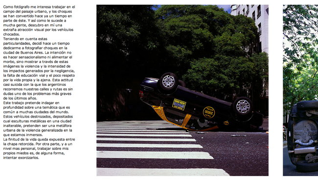 Screenshot showing overturned car, portion of next photo