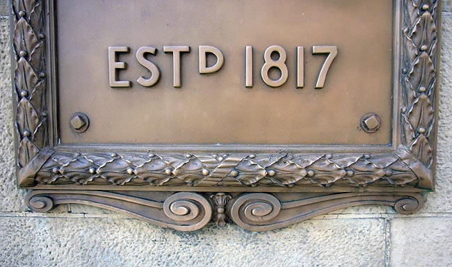 Cornerstone reads ESTD 1817
