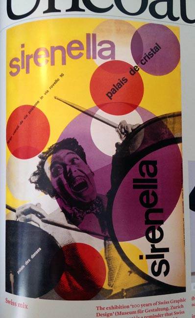 Clown-like Swiss poster with rotated axes and overlaid circles