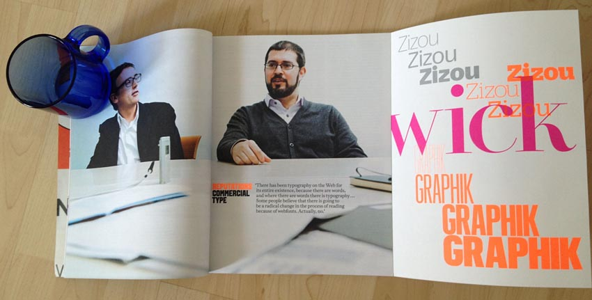 Double-page article spread of Barnes and Schwartz, with one page of a later gatefold showing one-liner specimens