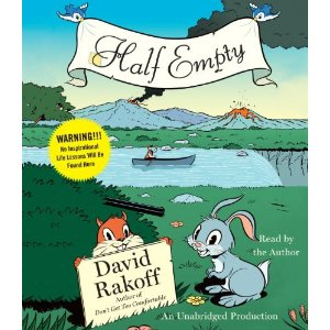 Cover with cute bunny and cute chipmunk holding up Rakoff's name