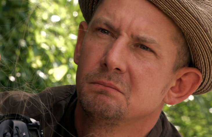Ian Hart as Don Konkey (in trademark hat), rather pained