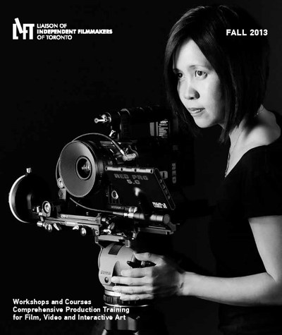 Iris Ng with Red Pro camera on cover of LIFT brochure
