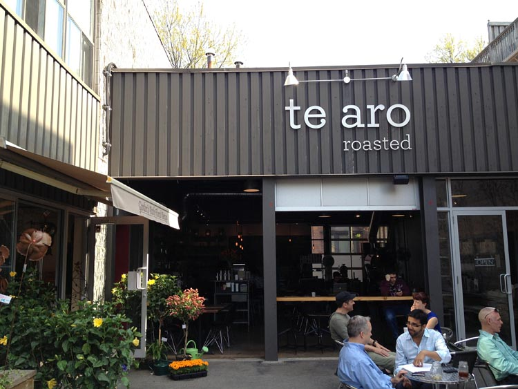 Te Aro exterior with patio