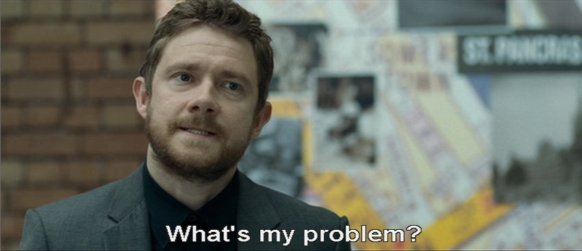 Bearded Martin Freeman: What's my problem