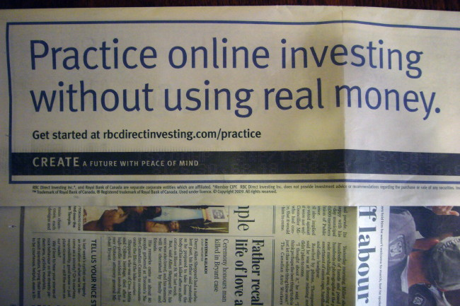 Practice online investing without using real money