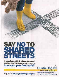 Say No to Shared Streets poster