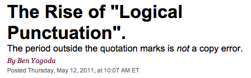 "The Rise of ""Logical Punctuation""."