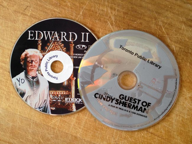 'Edward II' with white stick-on RFID, 'Guest of Cindy Sherman' with transparent StingRay