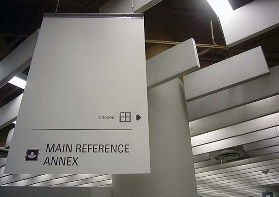 Main Reference Annex sign