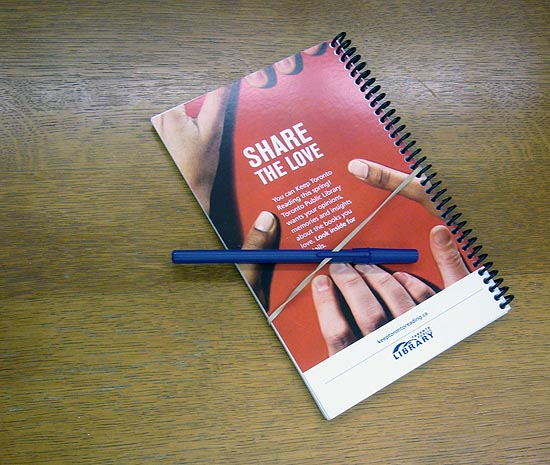Share the Love notebook and ballpoint pen