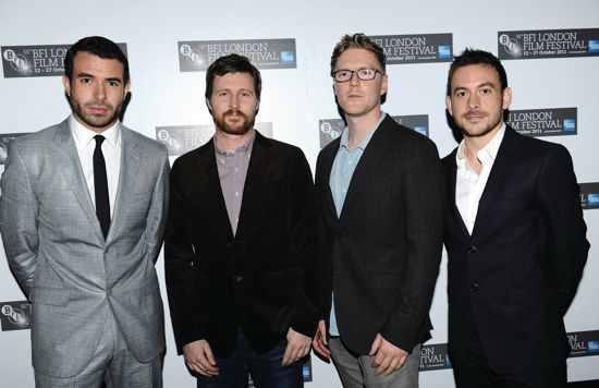 Actor Tom Cullen, director Andrew Haigh, producer Tristan Goligher and actor Chris New
