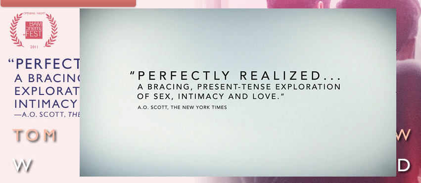 Screenshot of trailer with A.O. Scott quote