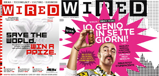 U.K. and Italian 'Wired' covers