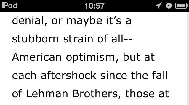 all--American optimism instead of all-American optimism