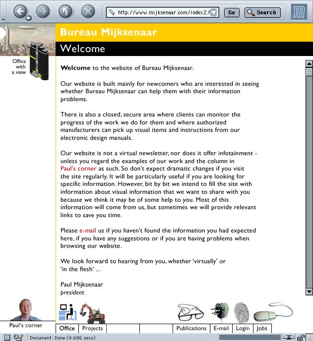 Bureau Mijksenaar site typeset in Gill Sans