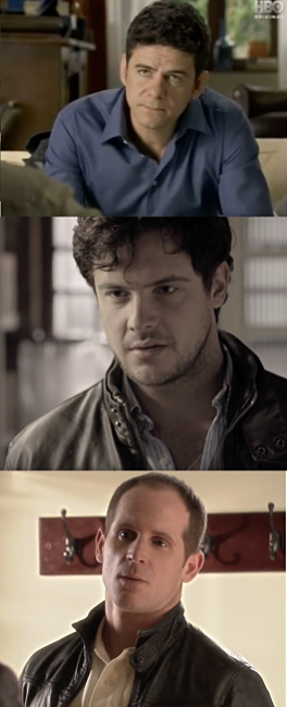 Actors from three versions of 'In Treatment'