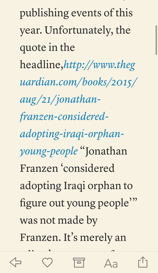 Hyperlink as raw italicized text