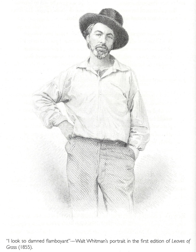 Pencil illustration of man in open-necked shirt, hand on hip, with hat angled back and to the side